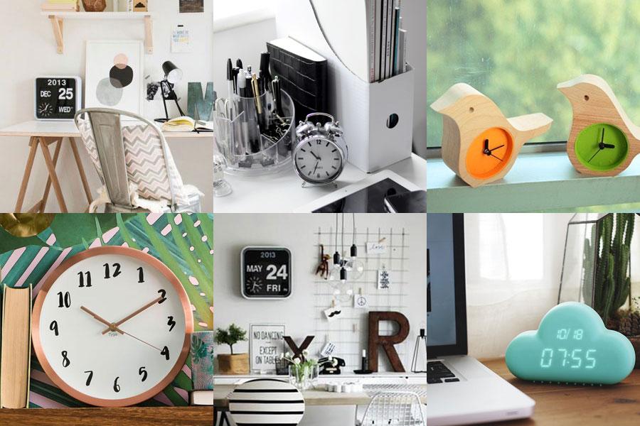 5 objetos imprescindibles para un escritorio más feliz - relojes - dibucos