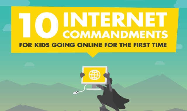 10 Internet Commandments for Kids Going Online For The First Time #infographic