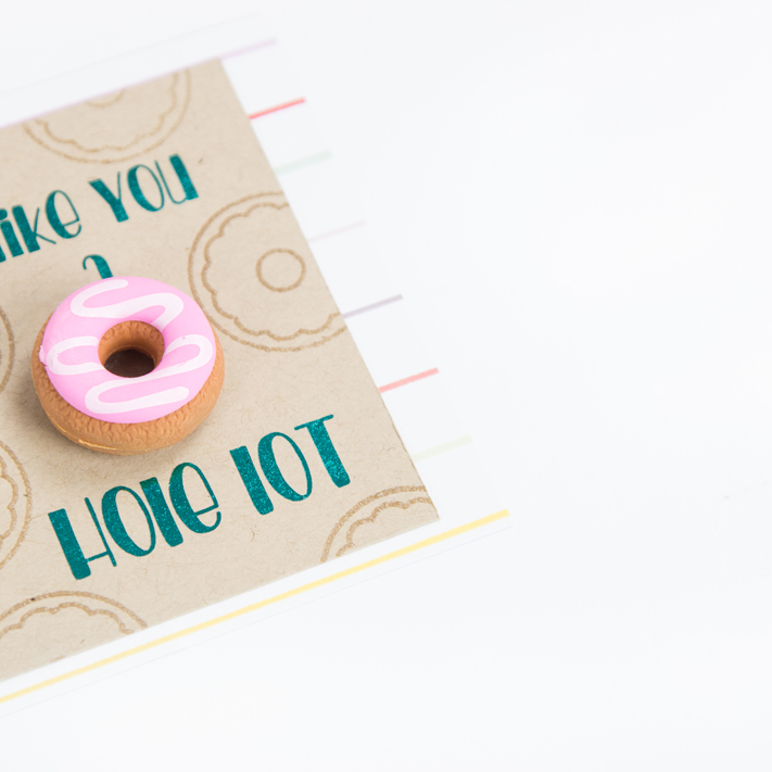 Donut Valentine's Day party ideas and cards perfect for the classroom or at home by @createoften for @heidiswapp