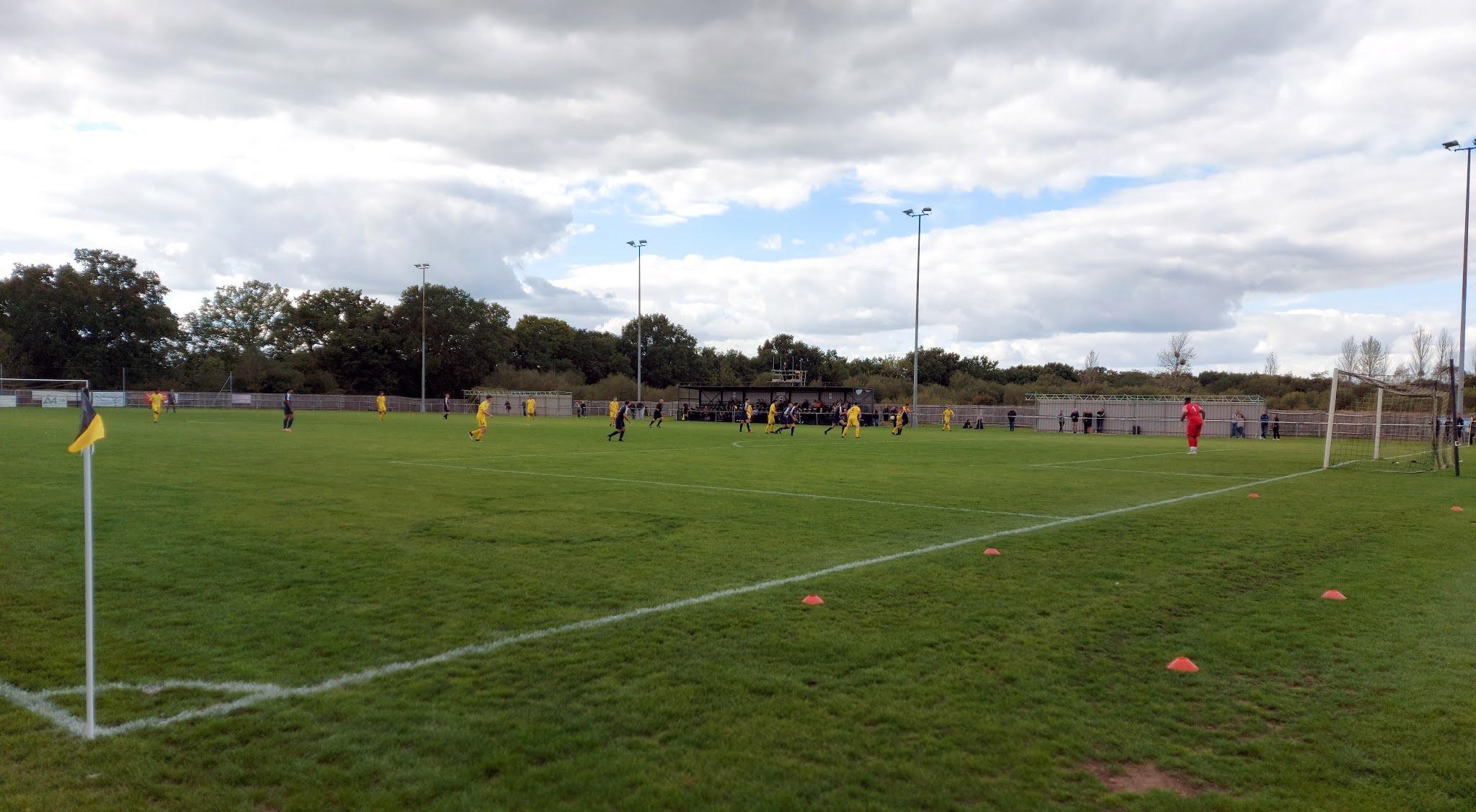 Match action at Tadley Calleva's Barlow's Park home