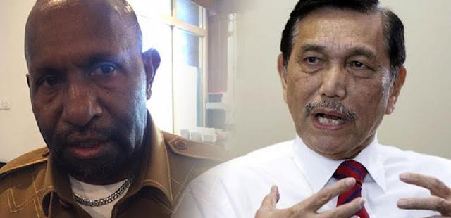 Luhut Tolak Lockdown Papua, Bupati Mamteng : Jangan Bicara Sembarangan, Ini Rakyat Kami!