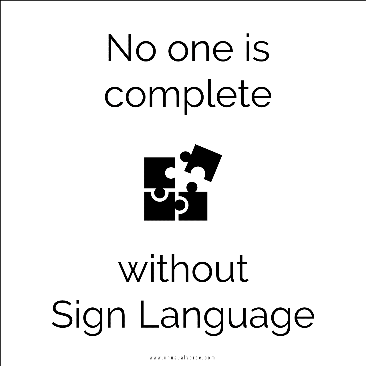 No one is complete without Sign Language