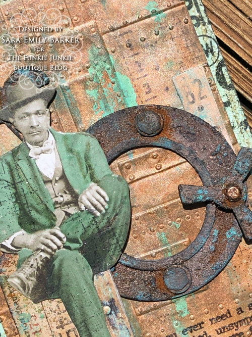 Sara Emily Barker https://sarascloset1.blogspot.com/2020/05/slightly-distracted-and-corroded.html Tim Holtz Masculine Mixed Media Card 3