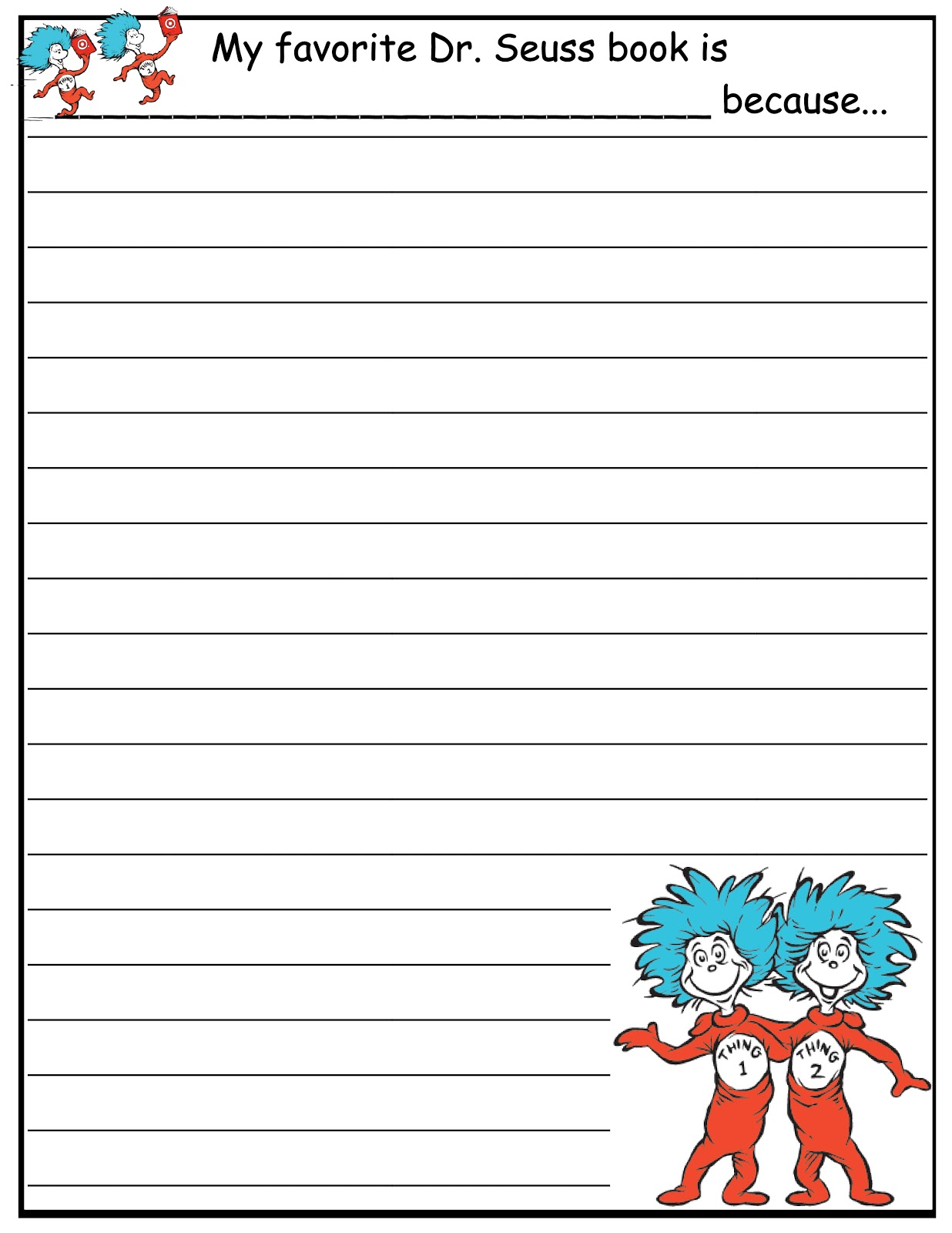 Scrap N Teach Dr Seuss Writing Papers Free