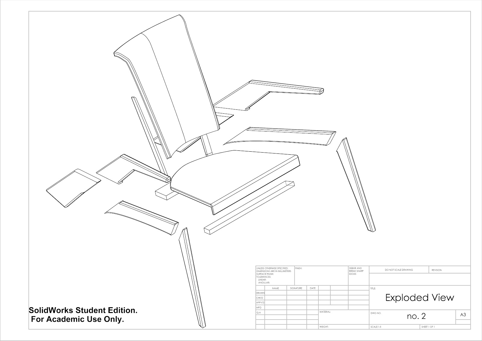 simple exploded view diagram human skull eye zac douglas furniture design cad technical drawings