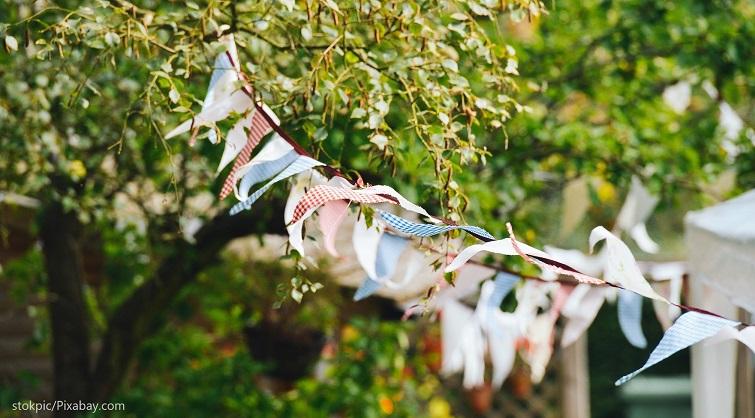 Wimpelketten für den Garten