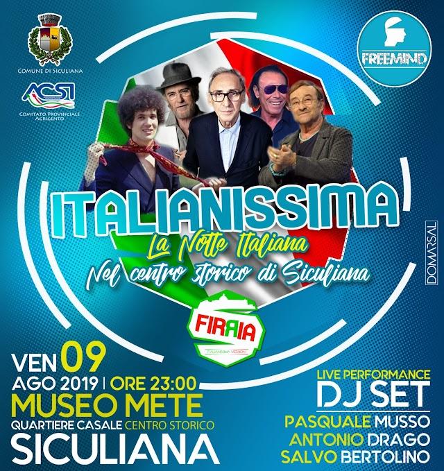 9 agosto | ITALIANISSIMA - La Notte italiana nel Centro Storico di Siculiana