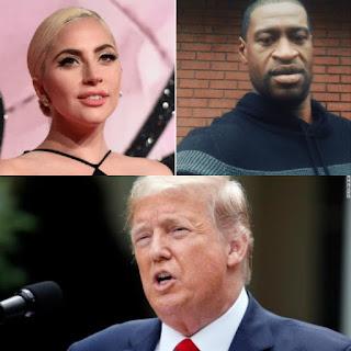 lady gaga calls president trump a racist fool