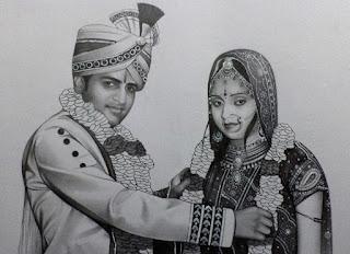 couple-portrait-on-varmala-ceremony