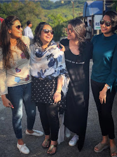 Keerthy Suresh with Cute and Lovely Smile with her Friends in 2018 Trips