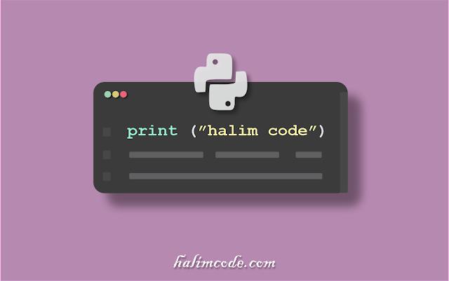 Cara Print Atau Menampilkan Output Pada Python