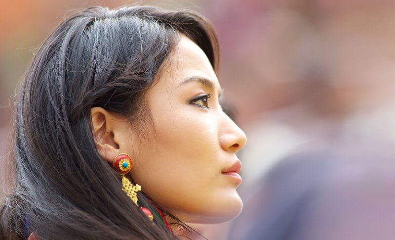Queen Jetsun Pema of Bhutan (The Gyaltsuen or Dragon Queen) and King Jigme Khesar Namgyel Wangchuck