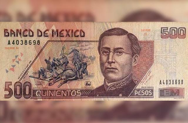 ¿Tienes billetes de 500 pesos de Ignacio Zaragoza? Esta es la fortuna que valen en internet.