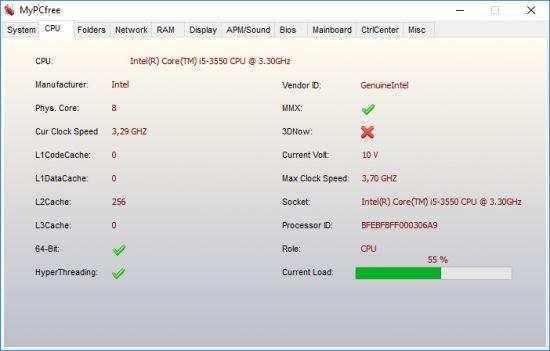 تحميل برنامج معرفة مواصفات الكمبيوتر بالتفصيل MyPCfree 2020