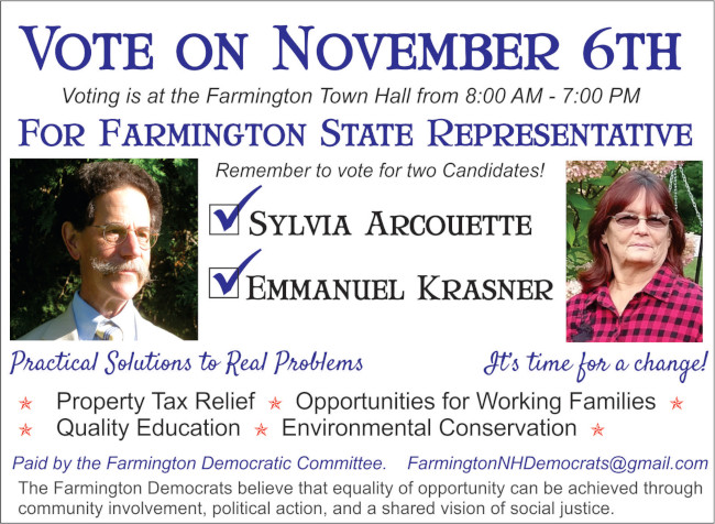 Farmington Candidate Info-Remember to Vote November 6th!