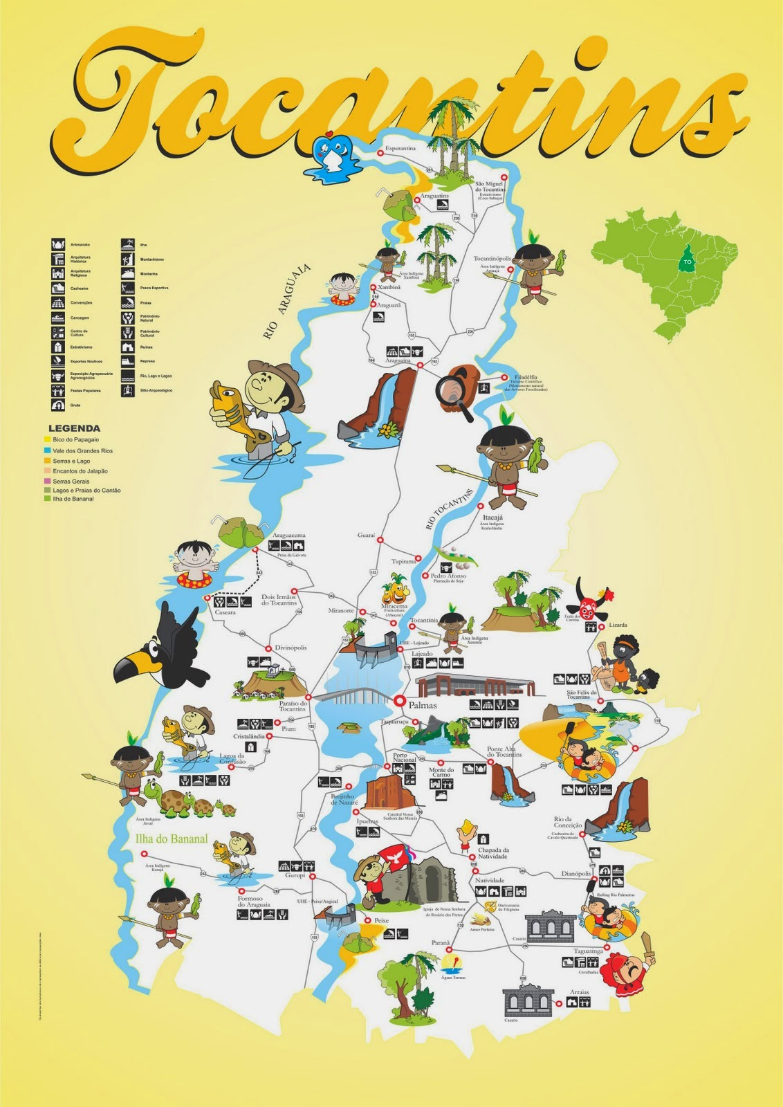 Mapas do Estado do Tocantins