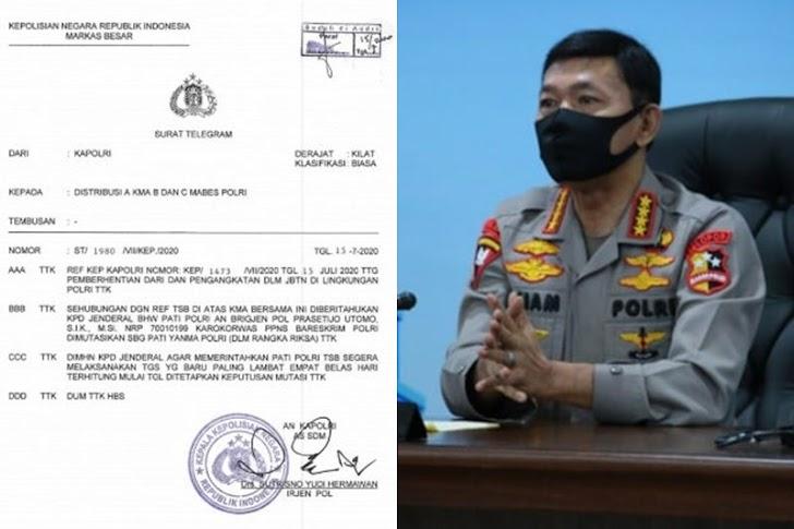 Jenderal Pol Idham Azis, Copot Brigjen Prasetijo Dengan 'Surat Sakti' Djoko Tjandra