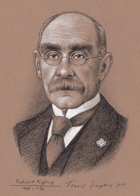 Rudyard Kipling. British Journalist, Poet, Author and Freemason. by Travis Simpkins
