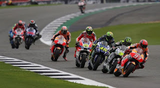 Starting Grid Race MotoGP Inggris 2017