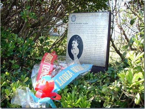 Imagen de la tumba de Rosario de Acuña, tomada de «Masonería siglo XXI», de Víctor Guerra