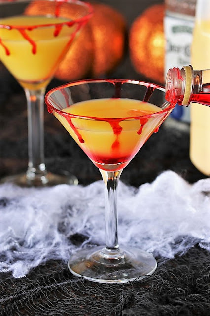 How to Make Bloody Sunrise Halloween Cocktail Image