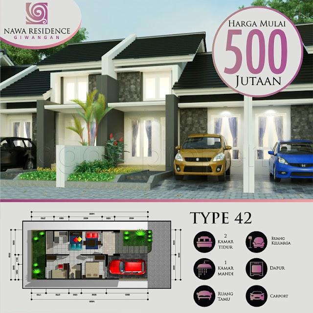Rumah Minimalis di Yogyakarta ( Cluster Nawa Residence )