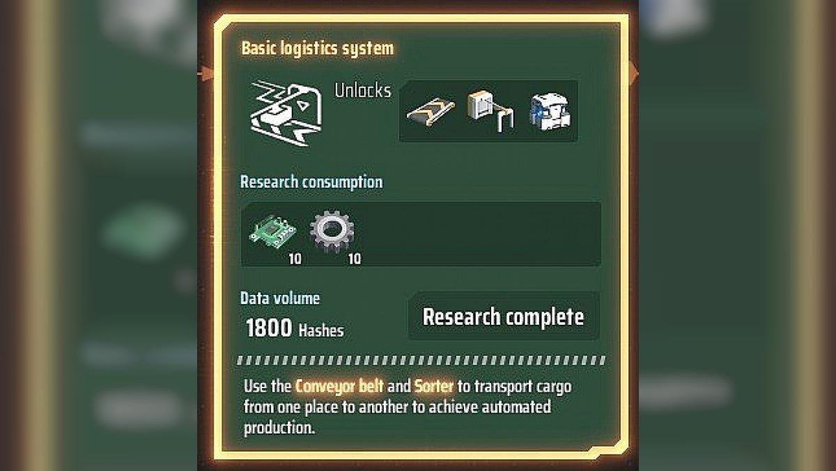 Basic logistics system