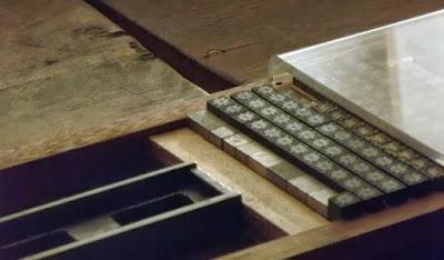 peças de tipografia do museu nacional de imprensa