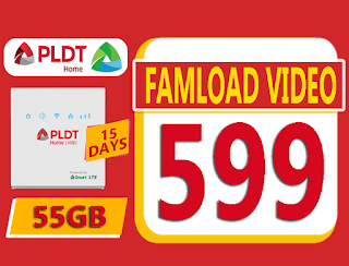 Famload Video 599 – 55GB Data for 15 Days
