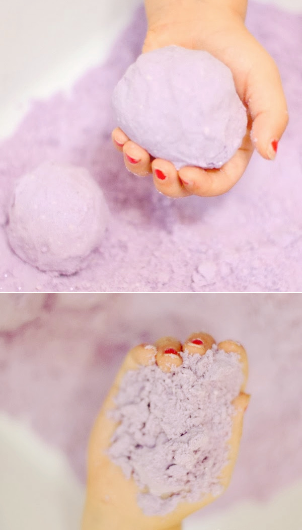 Chill kids out while helping to relax their energy in positive ways with this easy to make lavender dough! #clouddough #clouddoughrecipe #lavender #timeoutideasforkids #playdough #growingajeweledrose #activitiesforkids