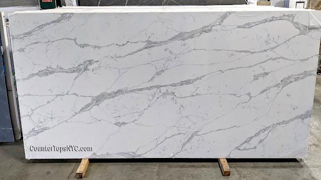 white quartz countertops with grey veins NYC