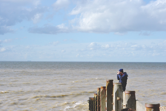 Whitstable Beach Tourist