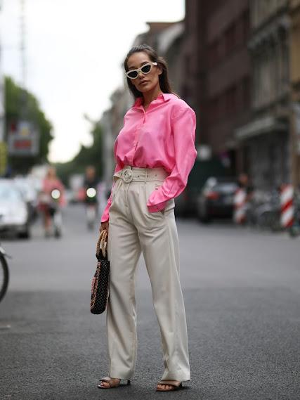 Moda en rosa primavera 2021 pantalón