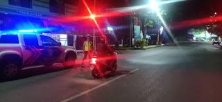Cegah Kejahatan Dimalam Hari, Personil Sat Lantas Polres Enrekang Lakukan Patroli Malam