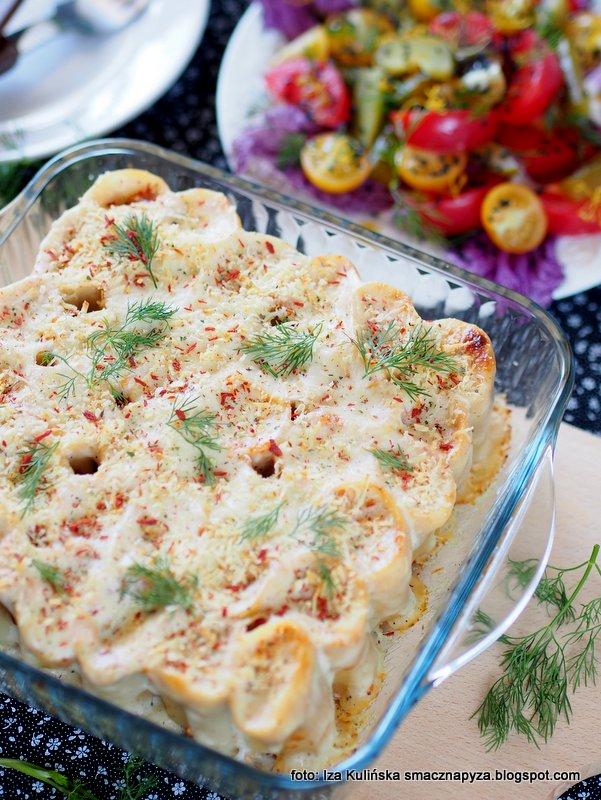 Cannelloni zapiekane z żółciakiem