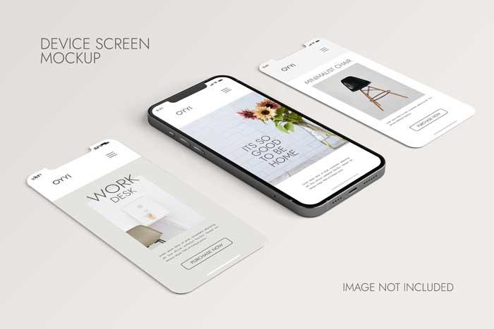 Phone Screen Ui Ux App Mockup