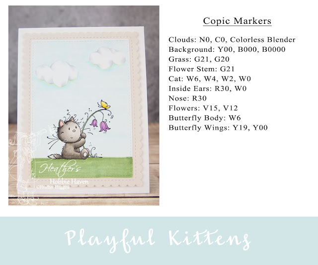 Heather's Hobbie Haven - Color Wednesday - Playful Kittens