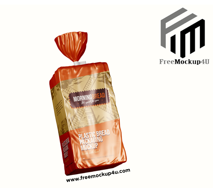 Bread Pouch Package Mockup Psd Template