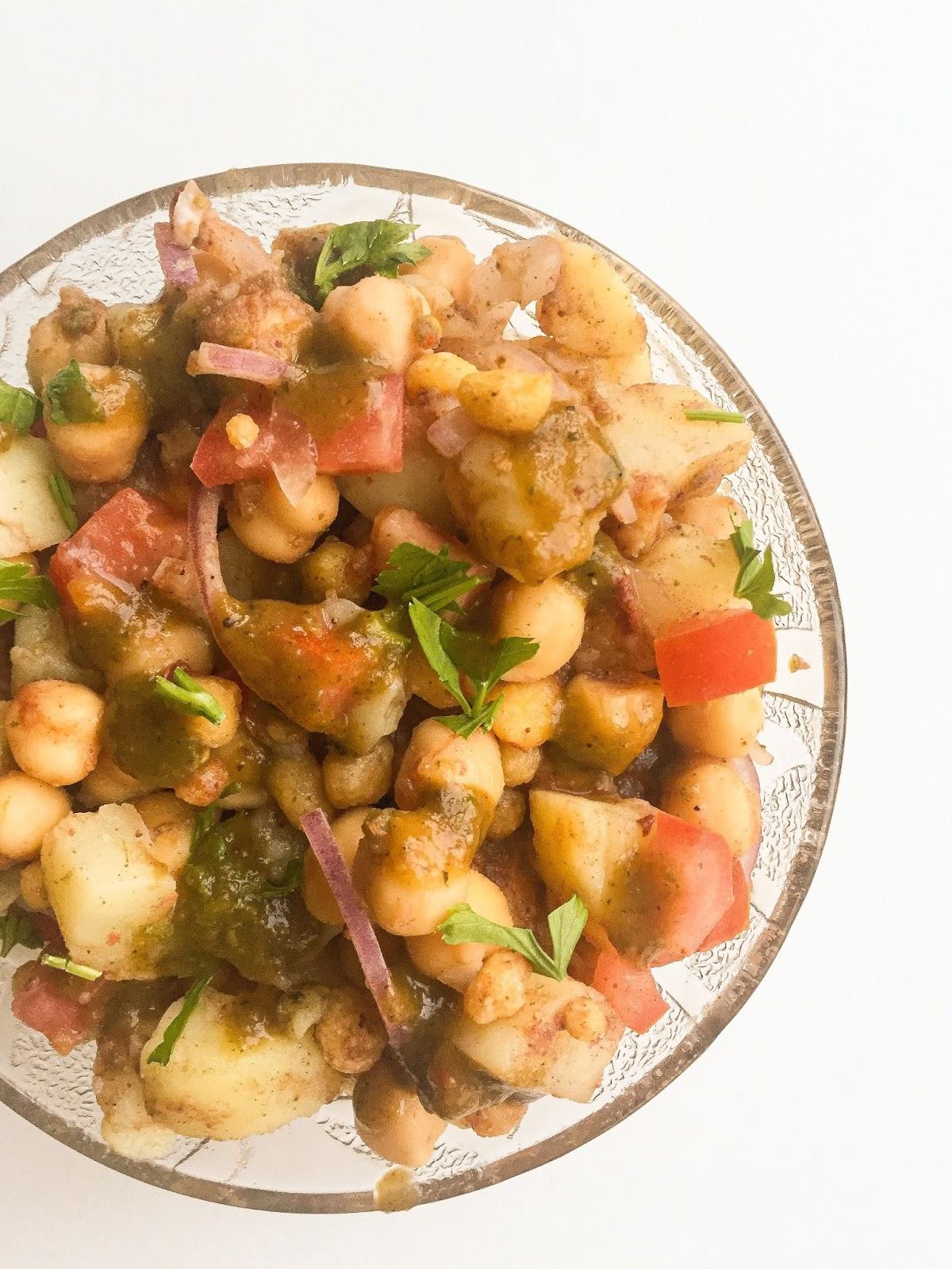 mama's potato and chickpea salad