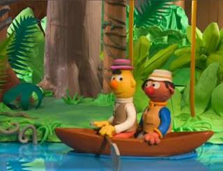 Bert and Ernie's Great Adventures Rainforest. Ernie and Bert as rainforest ecologists. Sesame Street Episode 4326 Great Vibrations season 43