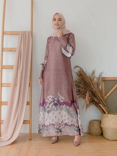 Long Dress Motif Printed