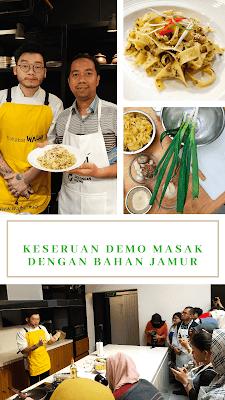 Demo masak bahan dari hutan