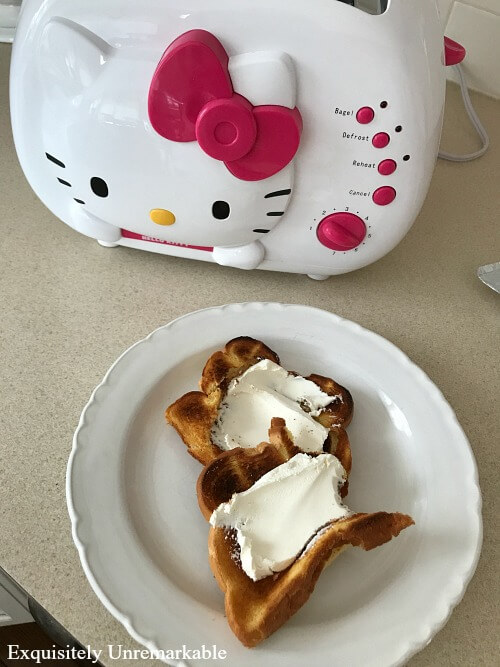 Breakfast with Hello Kitty Toast