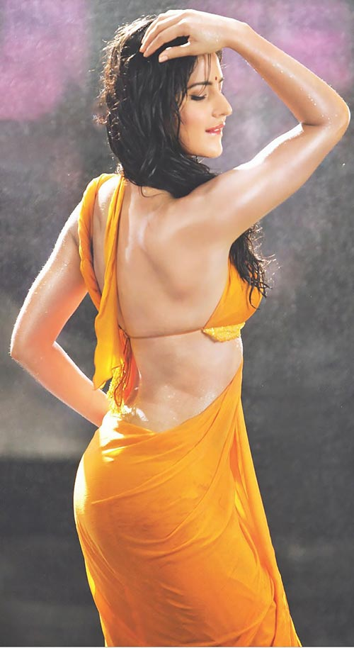 Katrina Kaif in orange wet saree backless gale lag ja song