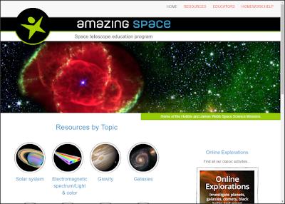 موقع الفضاء المدهش Amazing Space