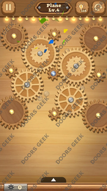 Fix it: Gear Puzzle [Plane] Level 4 Solution, Cheats, Walkthrough for Android, iPhone, iPad and iPod