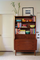 Mid-century bookshelf with cabinet