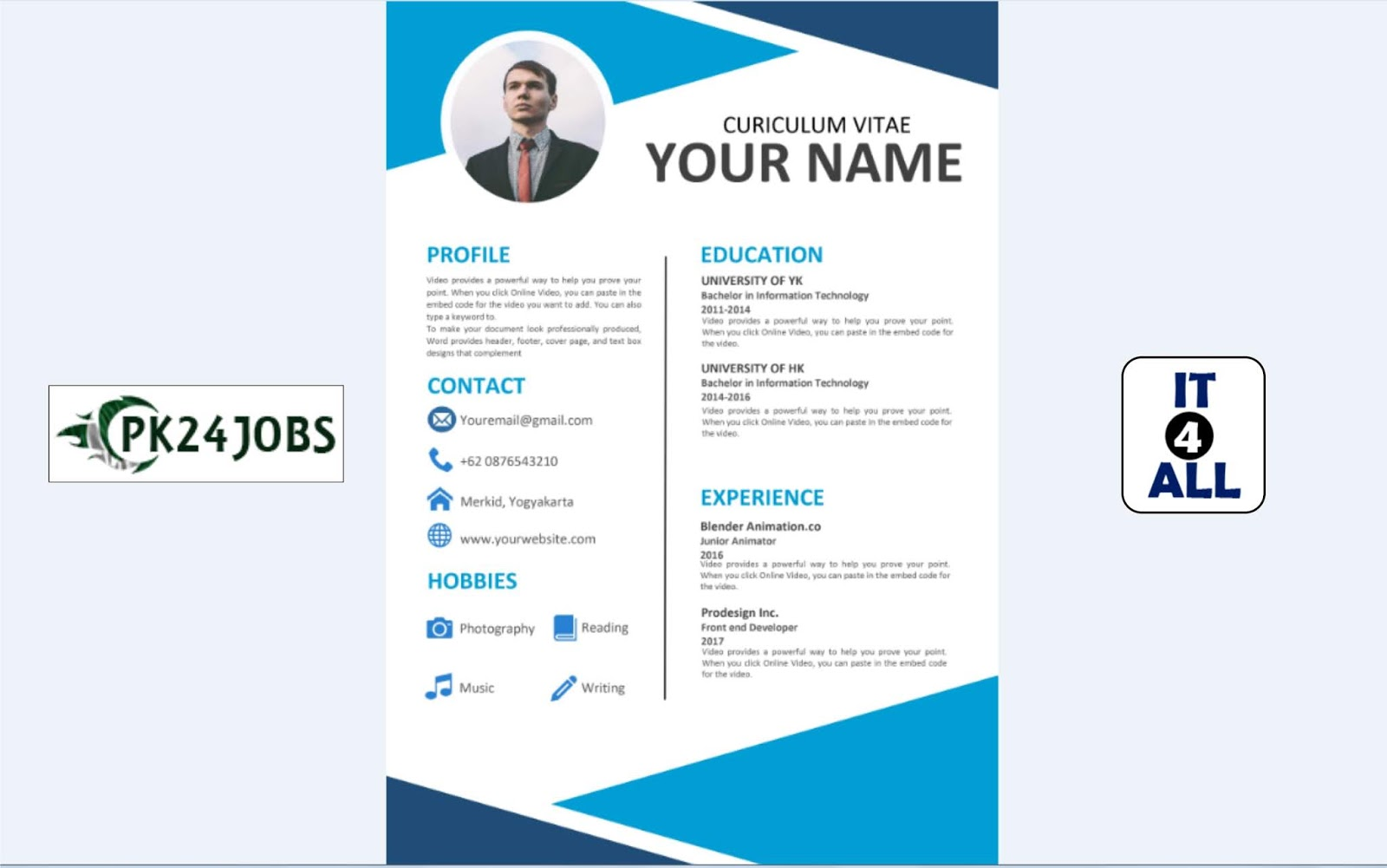 resume template free download editable in ms word