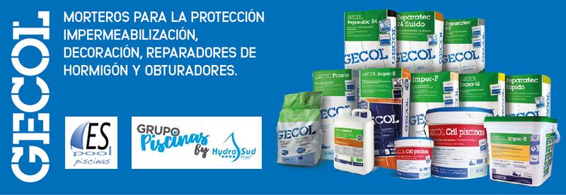 Compra mortero Gecol para revestimientos de piscinas en Espool Piscinas, Guadalajara