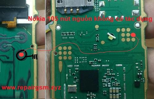 Nokia 105 nút nguồn không có tác dụng